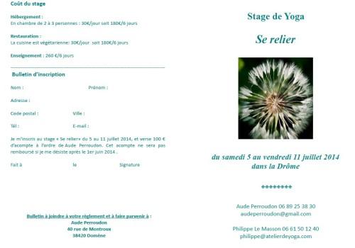Stage Yoga se relier juillet 2014 2